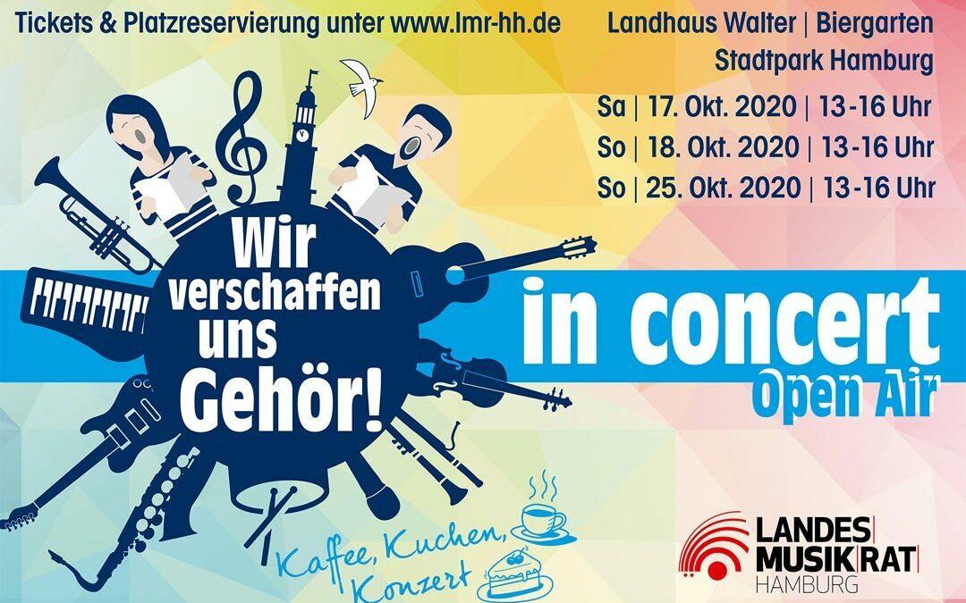 """""""Wir verschaffen uns Gehör! – in concert"""" Landhaus Walter (Stadtpark). Kaffee, Kuchen und Konzert – trotz Corona"""
