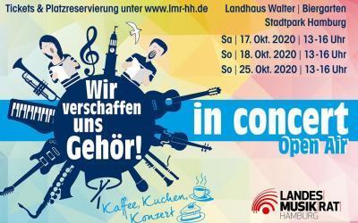 """""""Wir verschaffen uns Gehör! – in concert"""" Landhaus Walter – Stadtpark. Kaffee, Kuchen und Konzert – trotz Corona"""