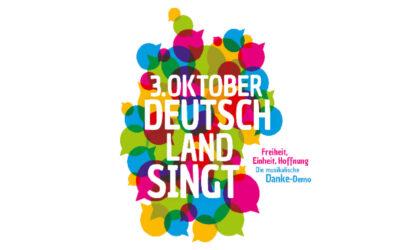 """Landesmusikrat Hamburg gründet Projektchor für die bundesweite Initiative """"3. Oktober – Deutschland singt und klingt!"""""""